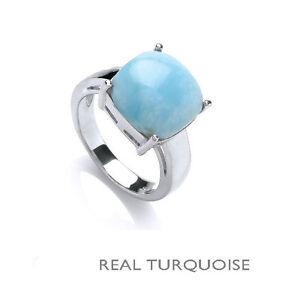Turchese-anello-turchese-solitario-anello-placcato-platino-argento-sterling