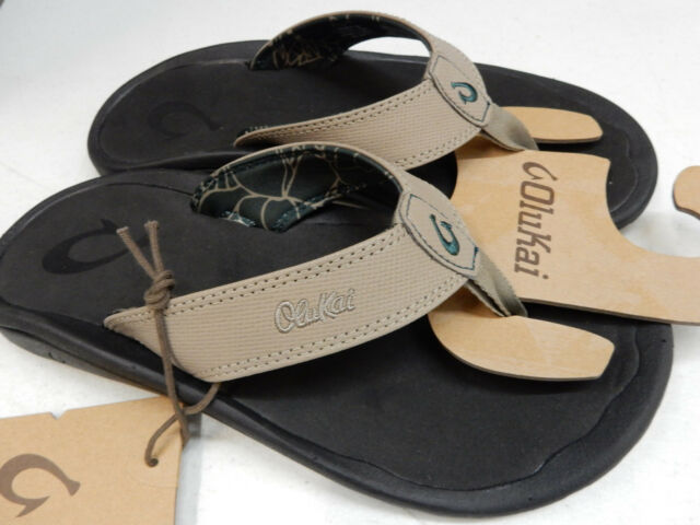 224cdd43edd OluKai Mens Sandals Ohana Clay Black Size 11 for sale online