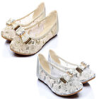 Fad Cute Comfy Bow Lace Gauze Almond Shaped Toe Dreamy Wedding Flats Pumps Shoes