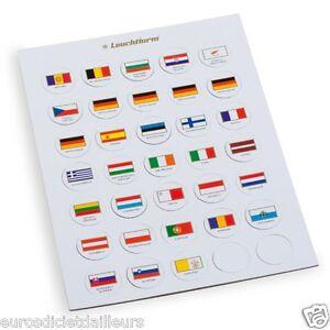 Jeu-de-drapeaux-appropries-pour-capsules-2-euro-LEUCHTTURM-Livre-neuf