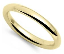 Vintage 18k yellow gold 2mm light comfort fit wedding band gents mans sz 9