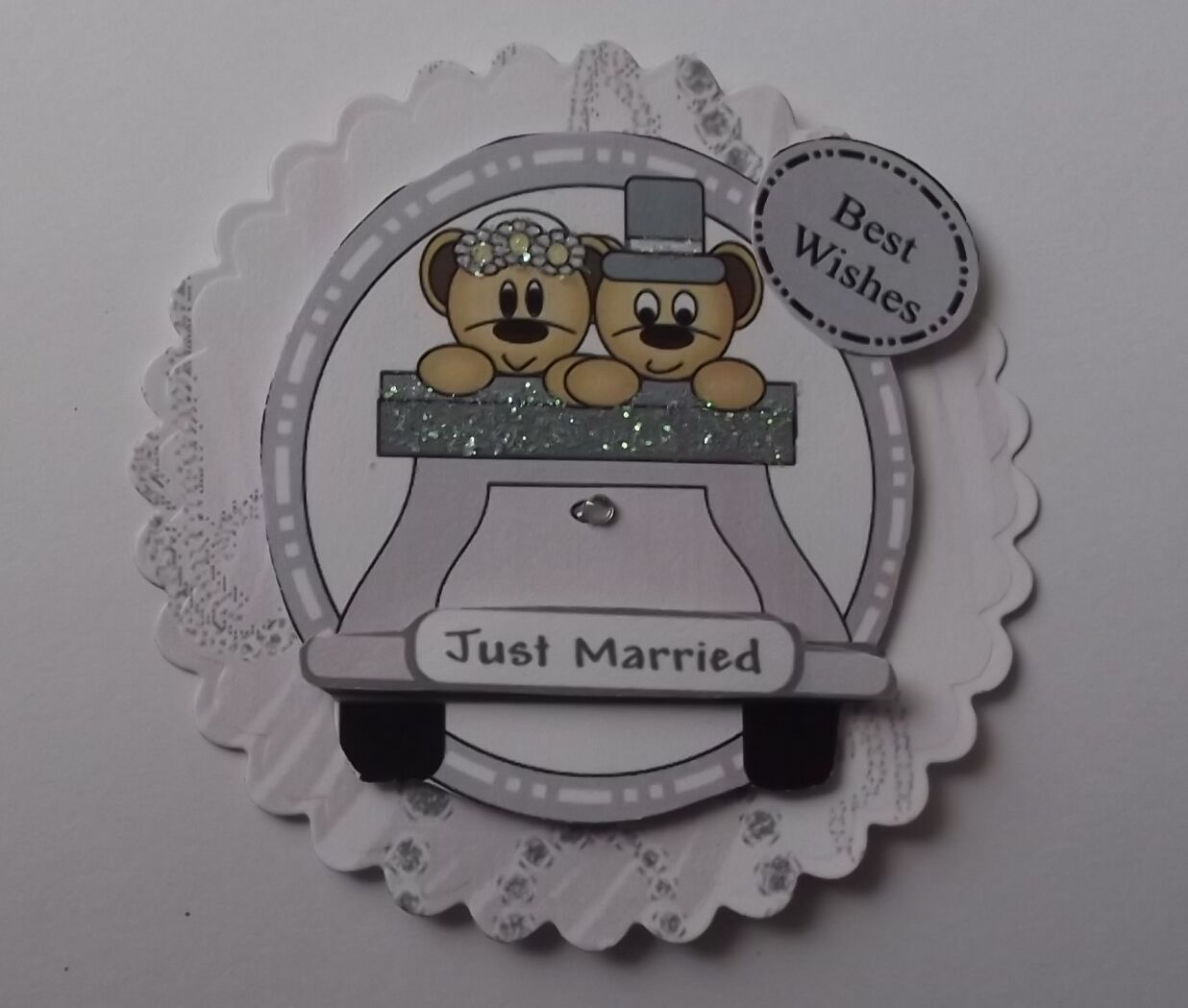 Pack 2 Boda Just Married Coche ADORNOS PARA TARJETAS Y MANUALIDADES
