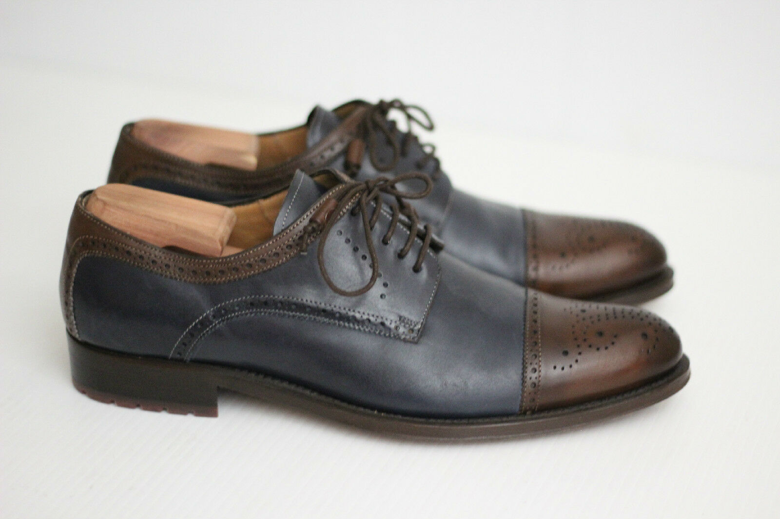 NEW Mezlan 'Carlino' Cap Toe Oxford - Brown   bluee - Size 10 M (Y87)