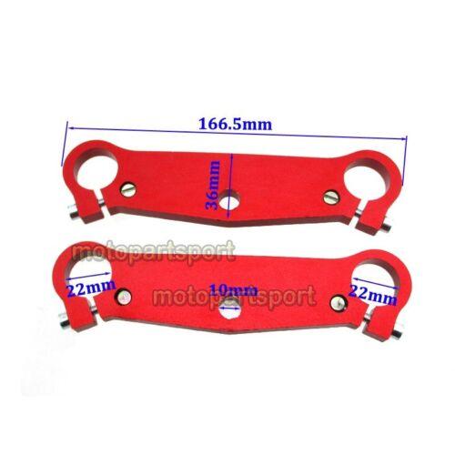 Red Mini Pocket Bike Front Triple Tree Fork Plate Parts 47cc 49cc MTA1 MTA2 Cags