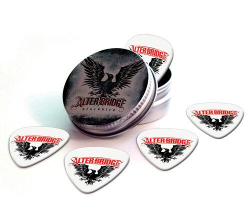 Alter Bridge 5 X Logo Guitar Picks in Tin Plectrums