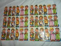 Vintage 36 Boys And Girls Stickers Includes 3 Differnt Styles Made In England
