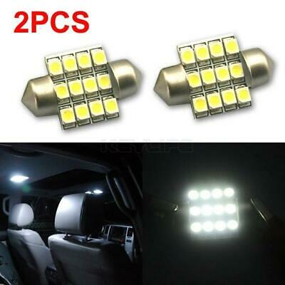 10x Bright White 6 SMD LED Festoon 27mm 28mm Dome Map Door Reading Number Plate