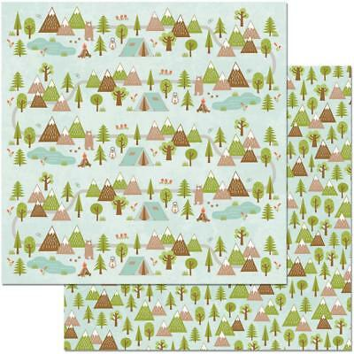 "REMEMBER BoBunny Garden Grove 12x12/"" d//sided scrapbooking paper"