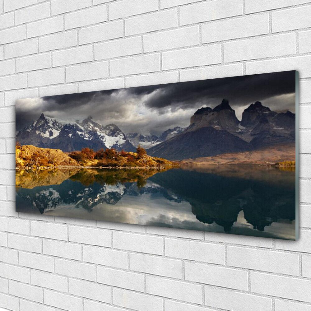 Impression sur verre Wall Art 125x50 Photo Image-Lac de Montagne Paysage