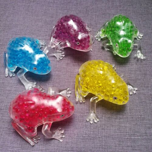 Simulation Clear Frog Beads Squeeze Squishy Slow Rising Stress Stretch Kids Toys
