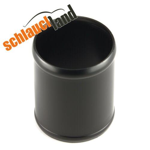 Alu-Verbinder AD 70mm schwarz*** Alurohr Aluminium Rohr Schlauchland Turbo Pipe