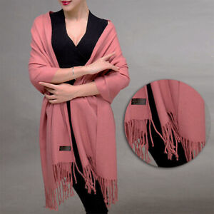 Fashion-Women-Ladies-Long-Shawl-Wrap-Scarf-Pashmina-Warm-Scarves-Tassel-Stole