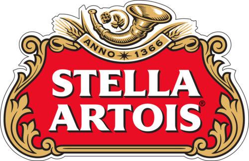 "5/""x 3.2/"" Etiqueta De Vinilo Decoración De Pared Stella Artois Cerveza Alcohol Calcomanía"