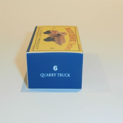 Matchbox Lesney  6 b Euclid 4 wheel Quarry Truck empty Repro D style Box