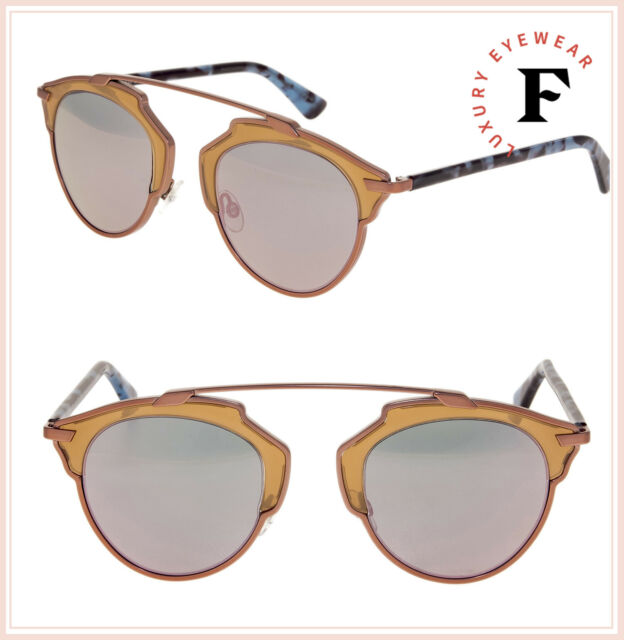 723287d3b926 CHRISTIAN DIOR SO REAL Rose Pink Mirrored Blue Havana Sunglasses DIORSOREAL