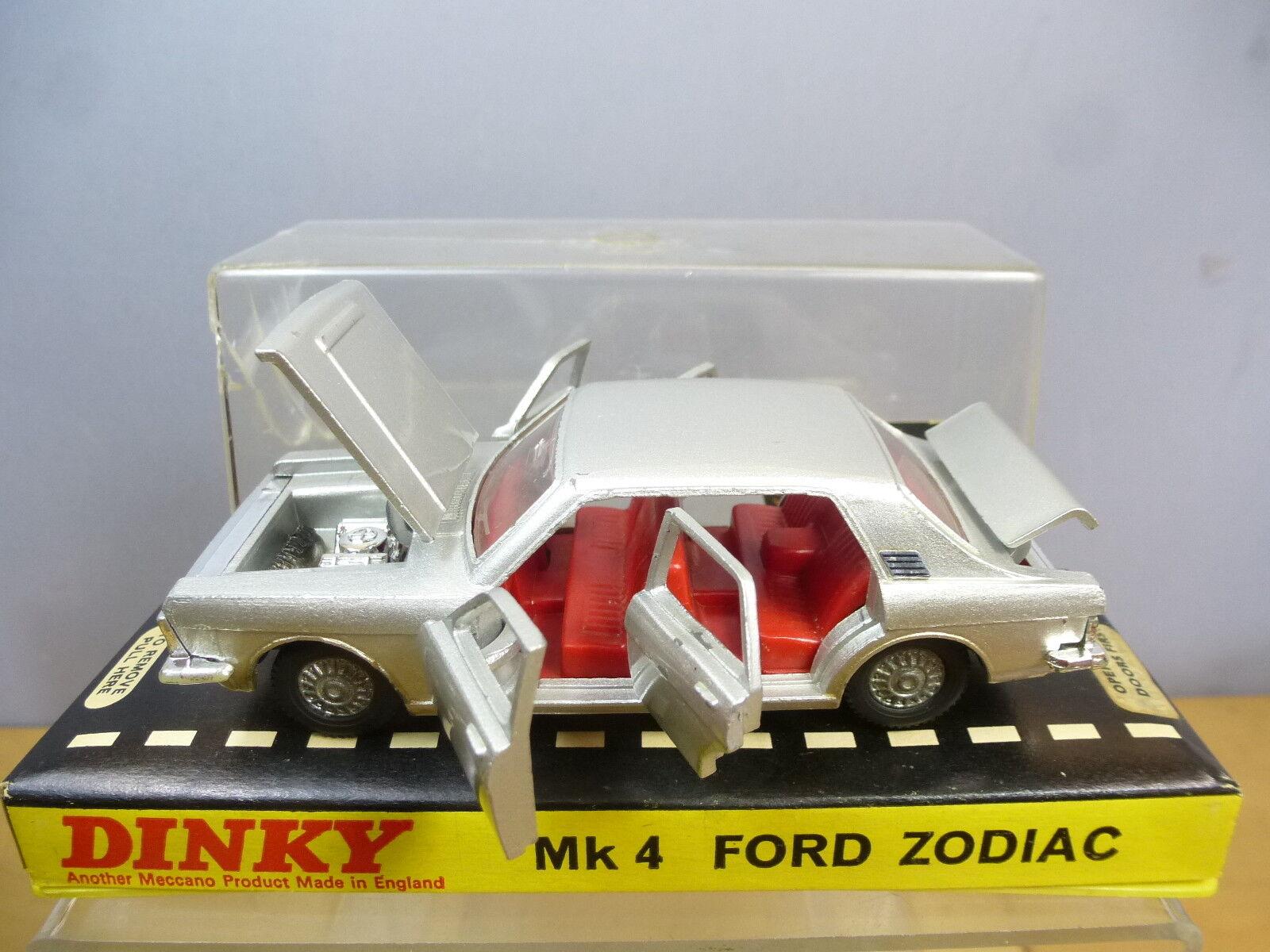 suministramos lo mejor Dinky Juguetes Modelo No.164 Ford Ford Ford Zodiac MK1V versión  de Plata  VN MIB  tienda en linea