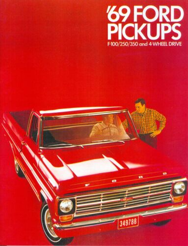 1969  69    FORD TRUCK  SALES BROCHURE-F-100//F-250//F-350