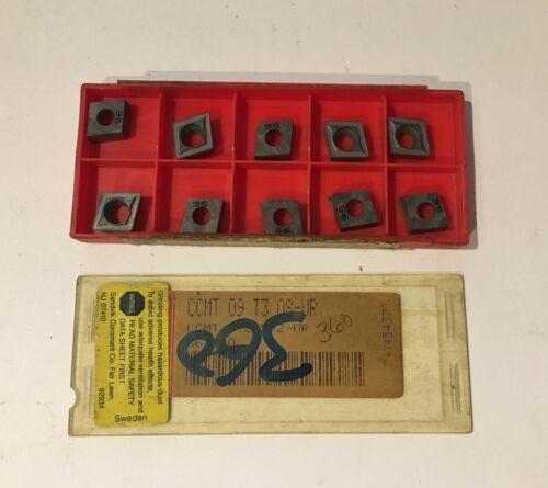 CCMT 09 T3 08 UR S6 P40 Qty Sandvik Coromant Carbide Inserts NEW 10