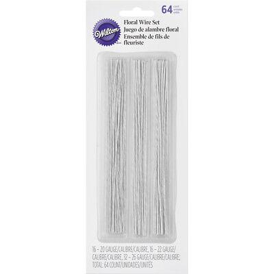 Wilton 64pc White 20-26 Gauge Floral Wire Set For Gumpaste Sugarcraft Flowers Beneficial To The Sperm Home & Garden Kitchen, Dining & Bar