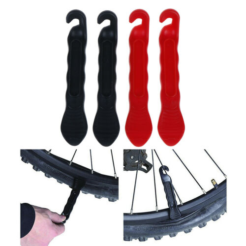 2pcs Hardened Plastic Bicycle Tyre Tire Lever Remover Mountain Bike Repair Tool*