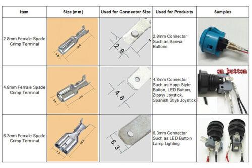 4.8mm 6.3mm Silver Crimp Terminal Female Spade Quick Connector 100pcs 2.8mm
