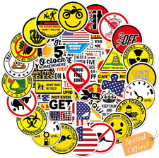 Hard Hat Stickers 50 Pcs Funny Construction Vinyl Decals Sticker For Tool Box