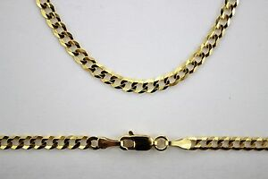 10K SOLID GOLD CUBAN LINK CHAIN NECKLACE and or BRACELET MEN WOMEN ... 1a49f5c830