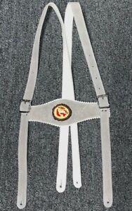 Lederhosen-Suspenders-Grey-leather-with-deer-emblem-43-034-length