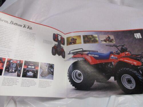Suzuki Quadrunner 4WD  SALES BROCHURE 1988 tri fold