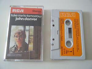 JOHN-DENVER-TAKE-ME-TO-TOMORROW-CASSETTE-TAPE-1974-ORANGE-PAPER-LABEL-RCA-UK