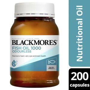 Blackmores Odourless Fish Oil Capsules 200 pack