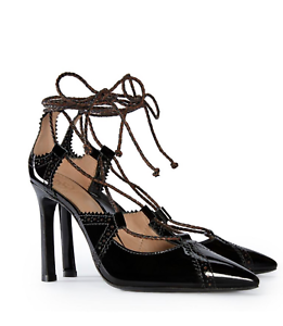 Tory Burch Lace-Up Pumps Retail