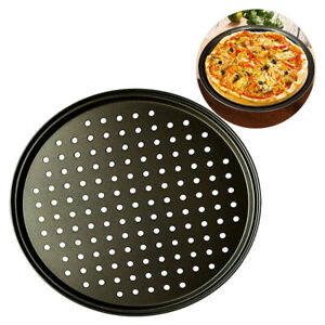 """Non-Stick High Quality Gray Steel Pizza Pan 12"""" Baking Oven Tray FREE SHIPPING"""