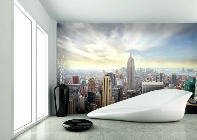 WALLPAPER MURAL PHOTO New York Skyline WALL DECOR PAPER GIANT POSTER Cityscape