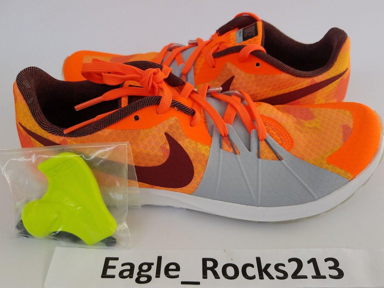 Nike zoom rivale xc traccia scarpa unisex di colore rosso / arancione sz 9 uomini donne 904718