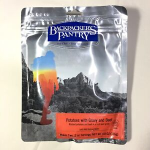 Backpackers Pantry Potatoes w/ Gravy & Beef Freeze Dried Meal Pouch - Ships Free