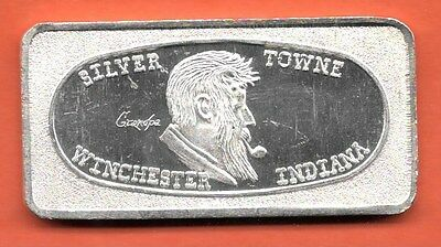 "INDIANA/"" Great Lake Mint Art Bar 7117 1 oz .999 Silver /""GRANDPA WINCHESTER"