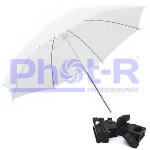 Phot-R-43-034-White-Studio-Umbrella-Swivel-Hotshoe-Flash-Light-Stand-Holder-Bracket