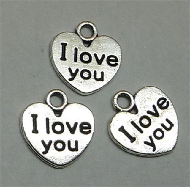 20x Tibetan Silver Dog Paw Heart Charm Pendant 13*17MM For DIY Bracelet//Necklace
