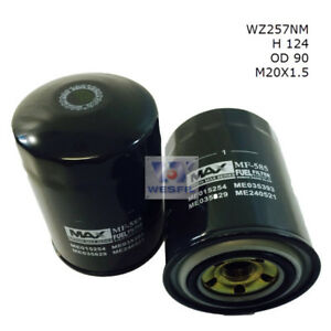 wesfil fuel filter for mitsubishi fuso fighter fm657/fm677 7.6l td  1998-2002 | ebay  ebay