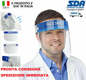 Visiera Protettiva viso DISPONIILITA' IMMEDIATA para schizzi per il viso cov