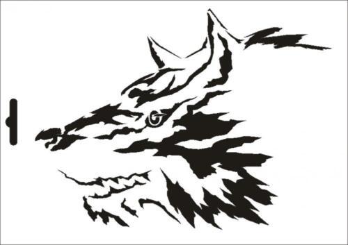 Wandschablone Maler T-shirt Schablone W-605 Wolf ~ UMR Design