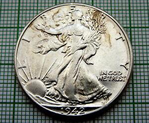 UNITED-STATES-1942-1-2-HALF-DOLLAR-WALKING-LIBERTY-BETTER-GRADE-SILVER