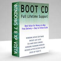 XP VISTA 7 WINDOWS PROFESSIONAL BOOT CD LAPTOP PC REPAIR RESTORE RECOVERY DISC