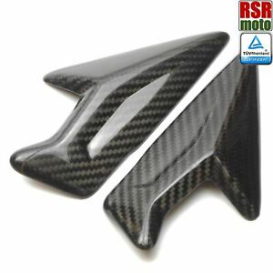 Carbon Fibre Radiator Covers Cowls Compatible With Triumph 765 Street Triple 2017-2019 Gloss Twill Weave