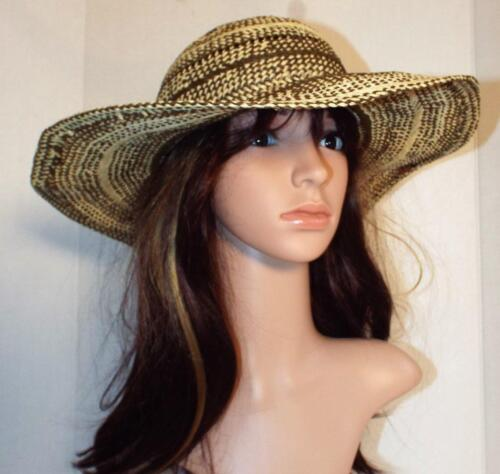 Womens PETER GRIMM Wide-brimmed Woven STRAW SUN H… - image 1