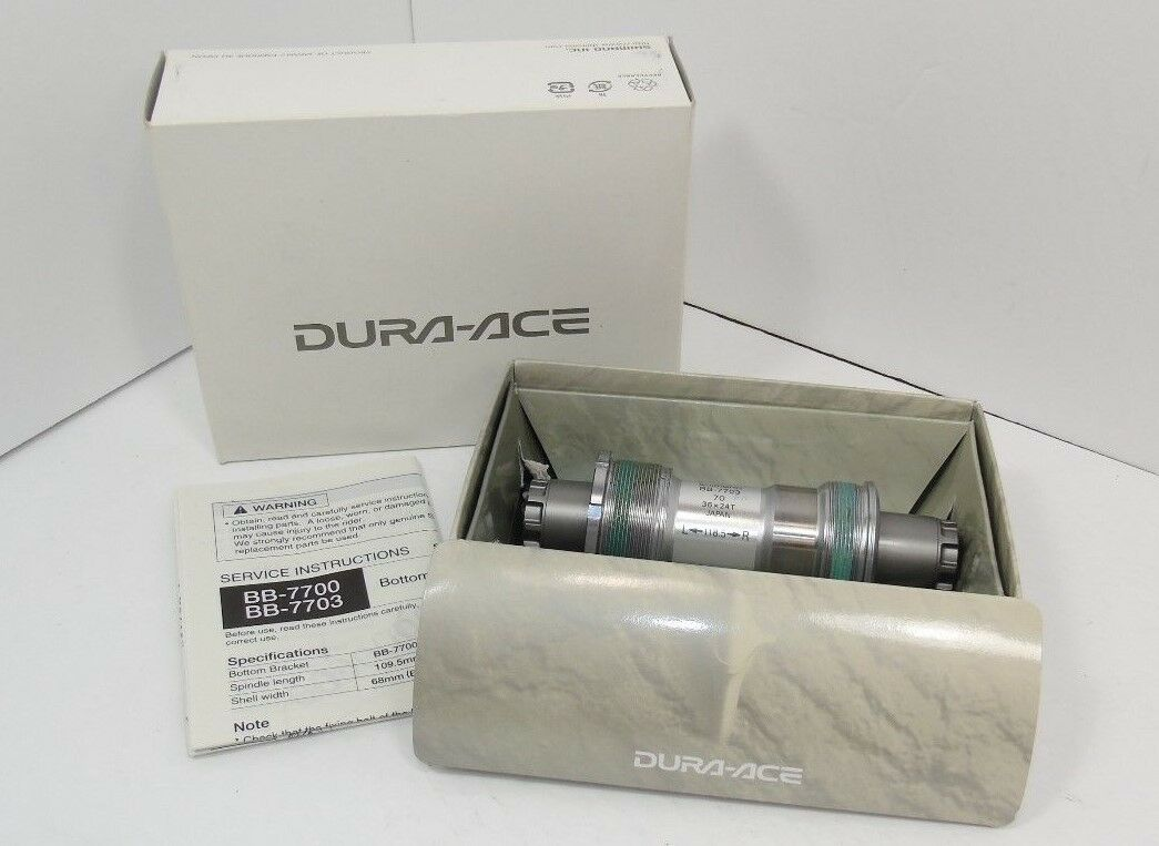 Genuine nos Shimano Dura-Ace Soporte inferior, BB-7703, italiano, 118.5mm, nuevo
