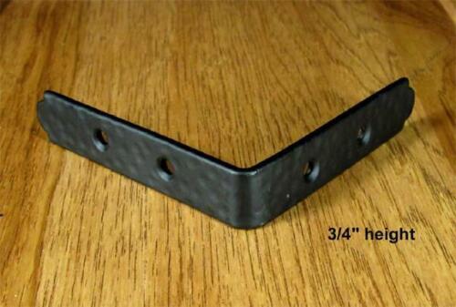 "Rustic Incl Rustic head screw hammered Table Edge Corner Brackets 3//4/"" high"