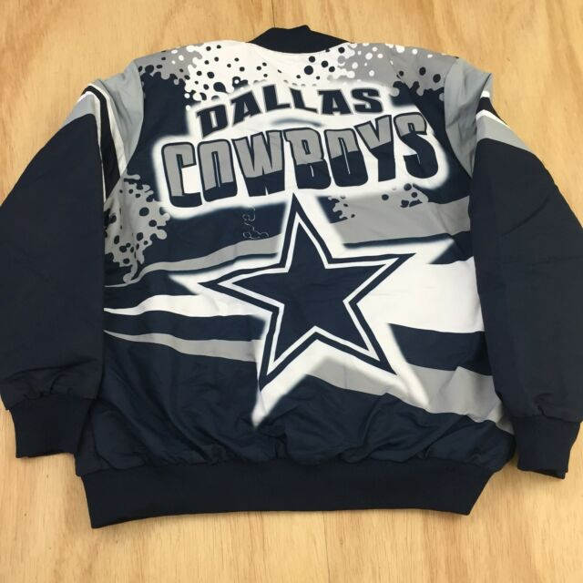 NFL Dallas Cowboys Alpha Sublim Mens SZ XXL Jacket Navy White Grey Americas  Team d7fd38fda