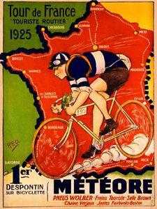 TOUR-DE-FRANCE-1925-VINTAGE-POSTER-8-034-X6-034-METAL-PLAQUE